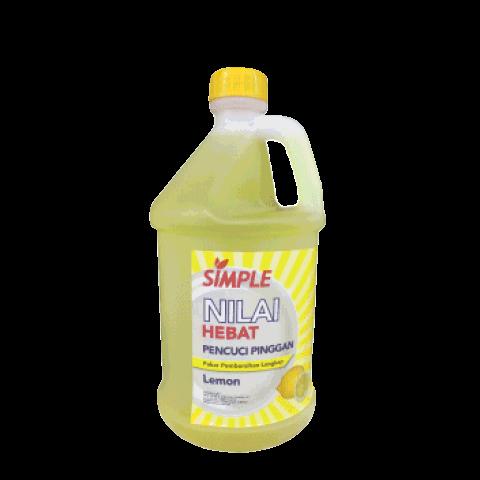 Simple Dishwash Lemon 10 Liter